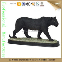 poly resin luck black panther figurine life size panther statue for sale