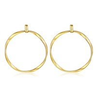 TOP quality fancy jewelry findings accessories wholesale circle golden plated brass metal earring hoops for jewelry making