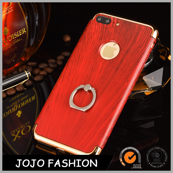For men jewelry wooden phone cover phone case with ring