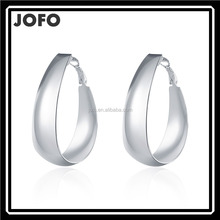 New Fashion Women Jewelry 925 Silver Plated Dangle Hoop Earrings Elegant Ear Stud Earrings