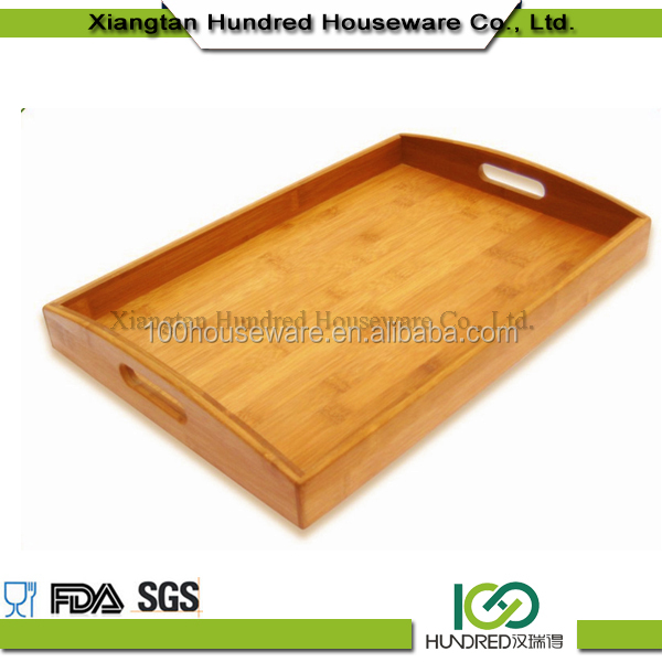High quality Bamboo wood tray /bamboo bed Tray/Food Serving Tray
