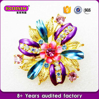 Wholsale Fashion Jewelry Alloy flower brooches vendor