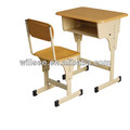 Promotion !!! US$14.50/set,FOB Ningbo,SF-0333, Werzalit board school student desk and chair,adjustable school desk chair set