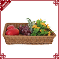 Eco-friendly rattan fruit baskets for supermarket display rack