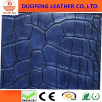 2016 new faux crocodile skin pu leather 1.1mm thick