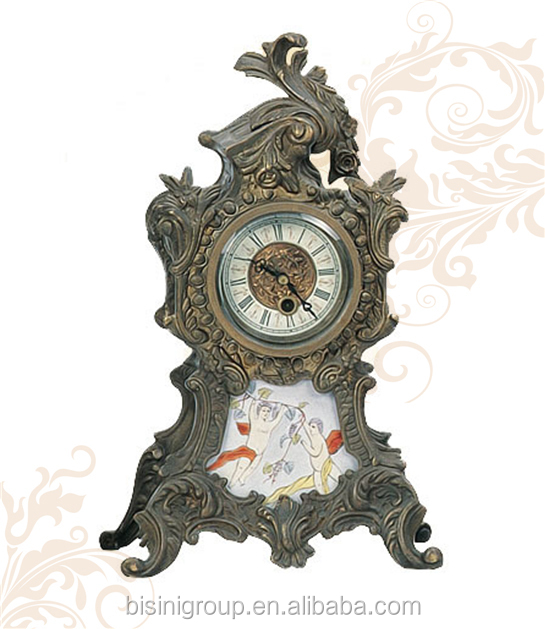 Antique Decorative Mini Desktop Clock, Unique Metal Table Clock For Wholesale
