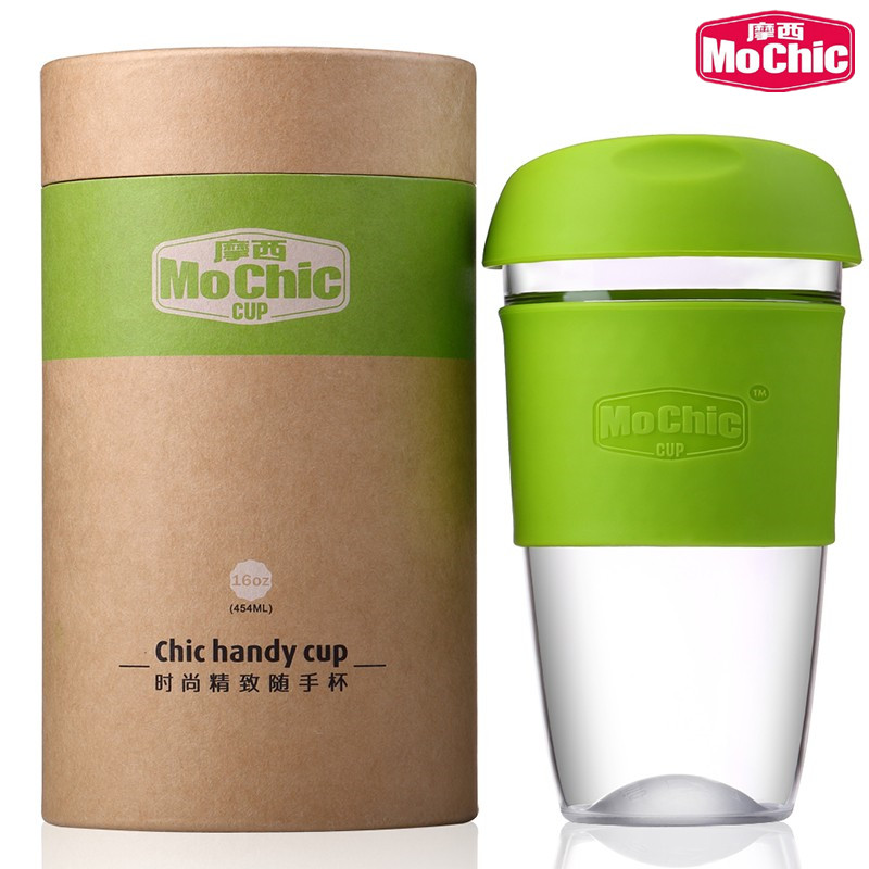 Mochic 8,12,16 oz reusable wholesale glass coffee cups