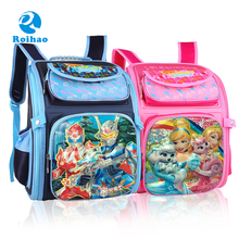 Roihao new china products for sale cartoon children school bags, kids quilted backpack