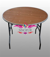 Customize folding table Round/square/rectangle folding with barcket kids folding table