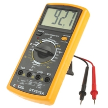 Wholesale price DT9205A LCD Digital Multimeter for Diode Testing / Transistor hFE Measuring Function in stock