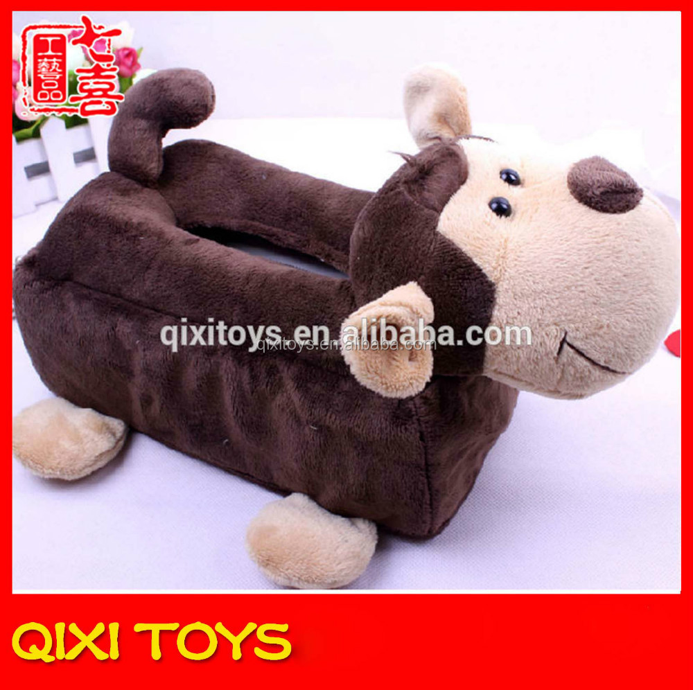 Best made tissue box cover monkey plush decorative tissue box cover
