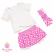 New lovely babysuit,two pieces set dress made in china,baby clothing for kids costumes