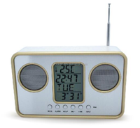 factory directly hot selling multifunctional electronic table led digital alarm clock radio