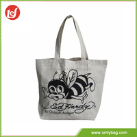 Top rated design durable bee cartoon canvas tote bag
