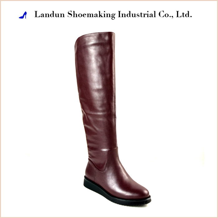 Italian knee length ladies women's shoes women leather boots