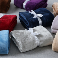 Top selling super soft mink blanket 100% polyester from China supplier