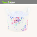 Multicolor Canvas Storage Basket Round Shape Storage Basket With Good Quality