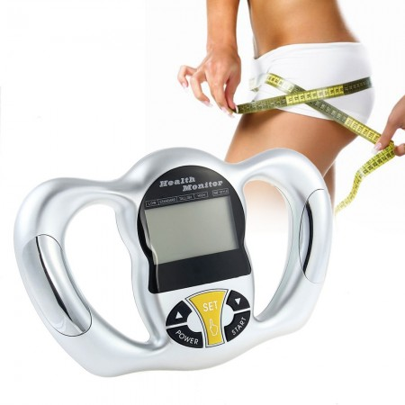 Portable Handheld Tester Digital Body Fat Analyzer Health Monitor BMI Meter