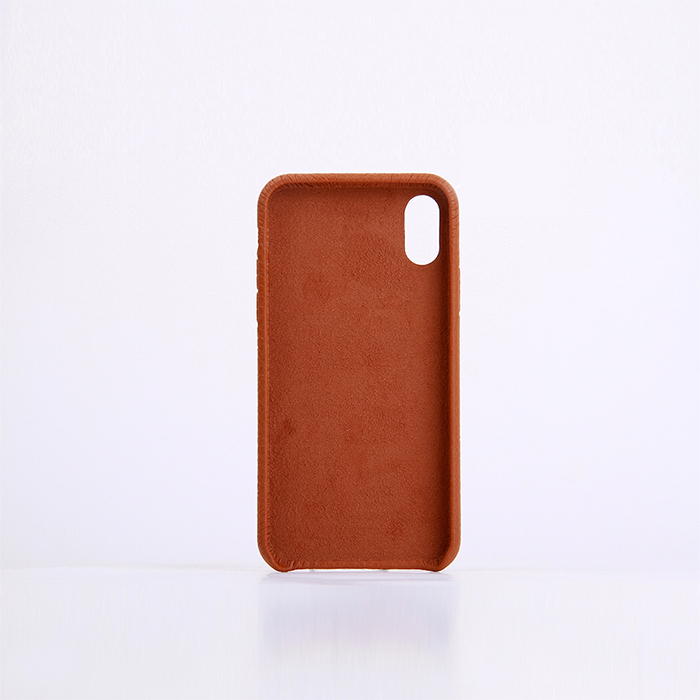 Shockproof Genuine Cow Leather Mobile Phone Case Smart Phone Case With Litchi Grain