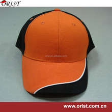 promotional baseball cap with seam binding