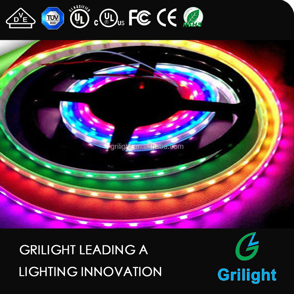 color changing led rope light digital 5050 smd addressable rgb led strip ws2801 ws2812
