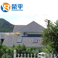 Rong Ping China bitumen roof tile factory supply 1000mm*333mm Asphalt Shingles Roofing Tiles colorful with good qualtiy