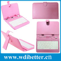 Elegant 7-inch Leather Case Cover with USB Keyboard for aPad Android Tablet PC
