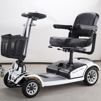 Portable 4 wheel elderly electric mobility scooter manufacturer for adults with good motor