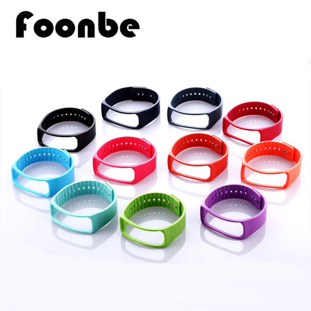 1pcs Replacement Rubber Band Wristband For Samsung Gear Fit R350 Smart Band Bracelet Strap Watch With Metal Clasps