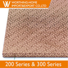 Cold rolld linen embossing color coated etching 3mm ss stainless steel bronze sheet in 0.5mm