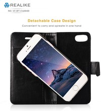 Wholesale flip two mobile phones detachable leather case for iphone 7