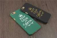 Keep calm letter hard back case cover for iPhone 5 5s 6s 6plus Hard plastic shell