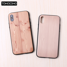 TOMOCOMO Imitation Wood Cover For 6 6Plus 7 7Plus 8 8Plus X Simple vintage style Phone Cases For OPPO R11 R9s R9s Plus