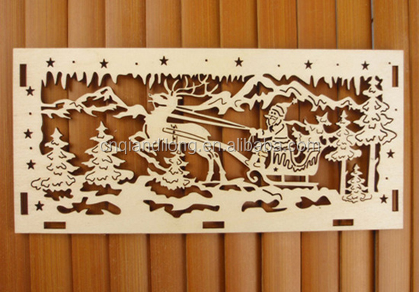 Welcome custom Wood carving Christmas gift Laser cut reindeer wood craft