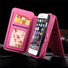 Luxury Magnetic Flip Leather Detachable Wallet Cover Case for iPhone 7 Plus 6S