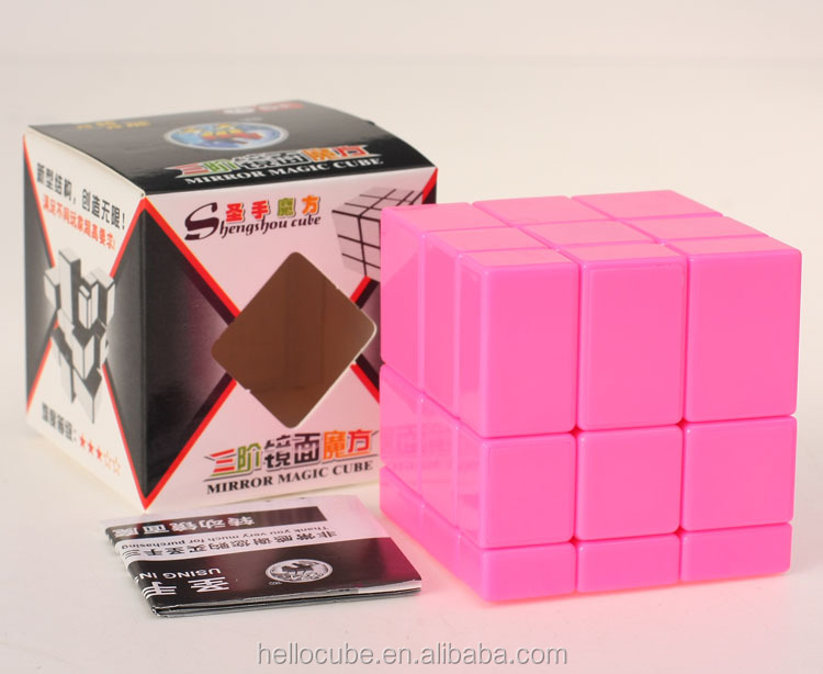 ShengShou 3x3 Mirror Cube pink monochrome stickerless Magic Cube Puzzle Educational Toys