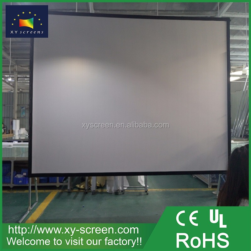 XYSCREEN 200 inch 16:9 fast foldable projector screen with folding rear projection screen