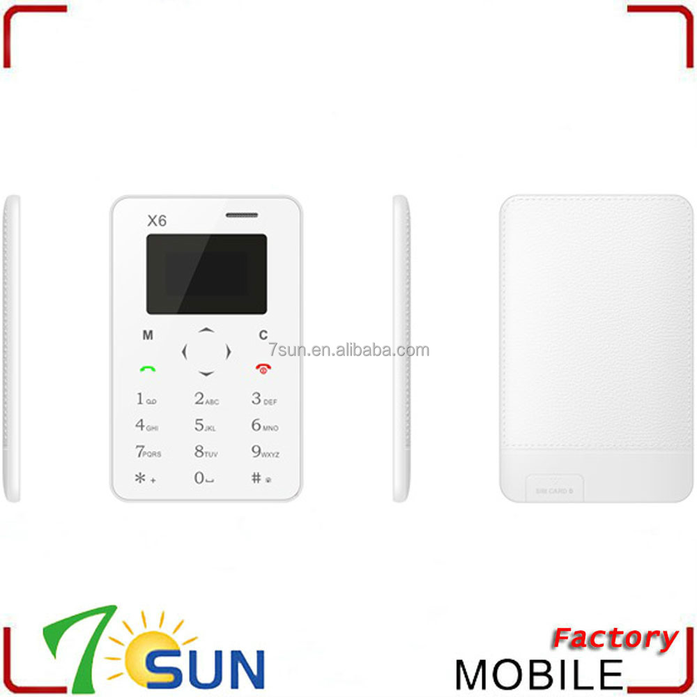 new product x6 chinese dual sim card mini mobile phone