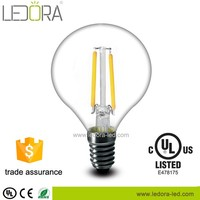 hight color index Top quality P45 LED light no plastic body clear glass dimmable filament bulb