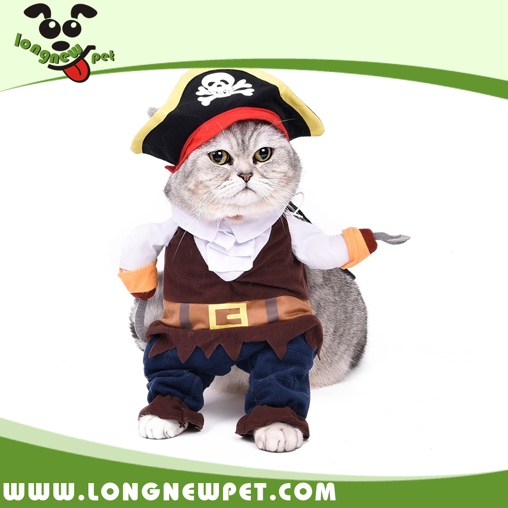 Funny Cosplay Pirate Costume Dog Clothes and Accessories Cat Clothes