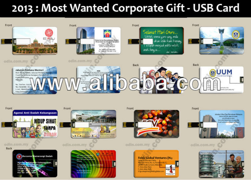 USB Card Pendrive - Most Wanted Gift Cenderahati dah Hadiah