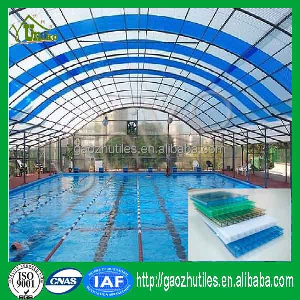 Surface layer UV protection double layer polycarbonate swimming pool cover