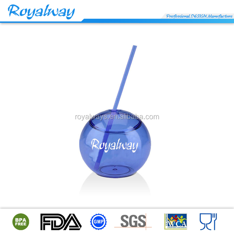 Plastic Round Shape Promotional Cup/ Christmas ball shape tumbler