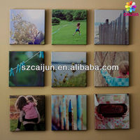Customized wood framed cotton/polyester canvas printing