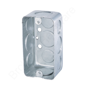 HOT SALE 4*2 Rectangle Handy steel wall switch box for designed to house switches and outlets
