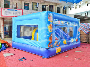 Attractive inflatable birthday bouncer combo for sale, inflatable bouncer castle house with slide