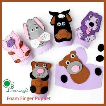 craft foam and animal finger puppet