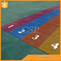 Pattern on surface outdoor 20mm rubber floor paint