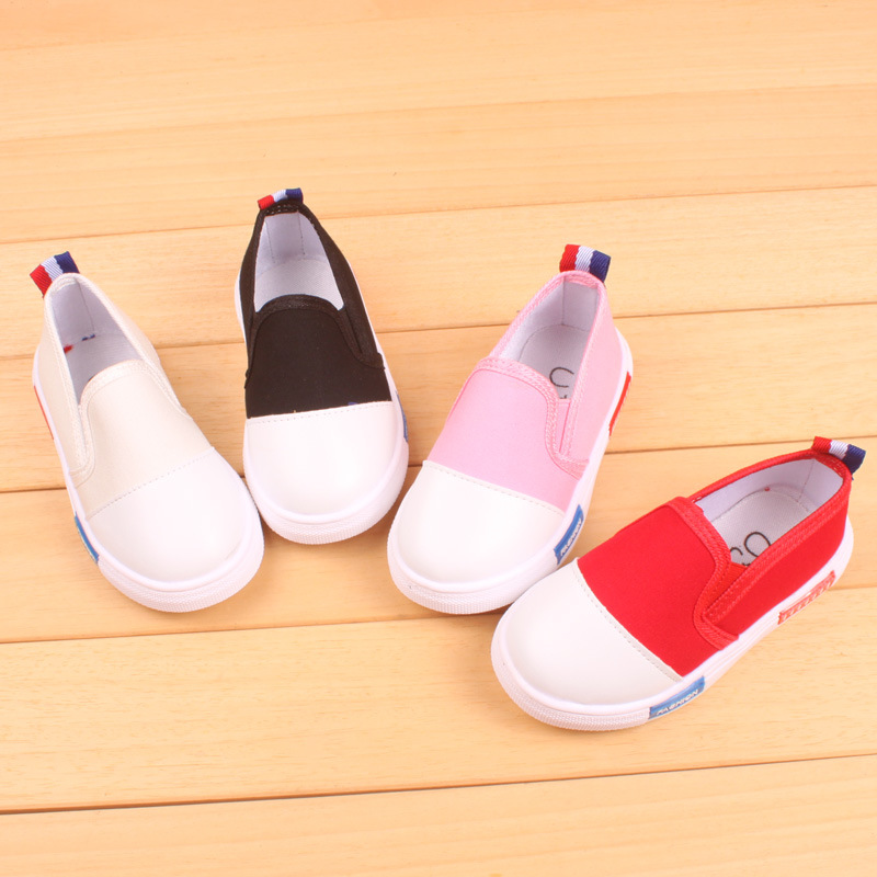EVERTOP 2018 New classic styles soft fabric exquisite cost-effective kid canvas shoes