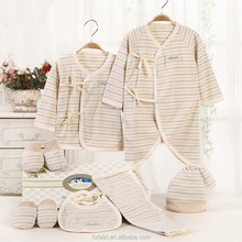 China manufacturer soft and healthy striped suit made of newborn organic baby cotton clothes for wholesale
